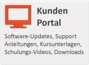 Software-Updates, Support Anleitungen, Kursunterlagen, Schulungs-Videos, Downloads